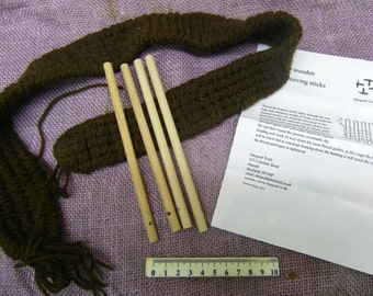 multi period 4 peg weaving kit and instructions