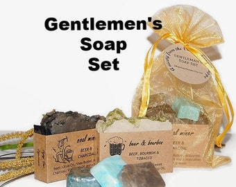 Mens Soap Set, Scented Soap, Gift Soap, 2 Soap Set, Mens Gift, Moisturizing Soap, Gift for Dad, Homemade Soap, GENTLEMENS SET