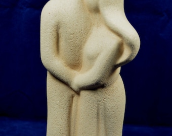 Valentines Day Gift - Cycladic Art - Lovers Figure- Holding couple