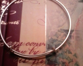 Silverplated Adjustable Bangle Bracelet