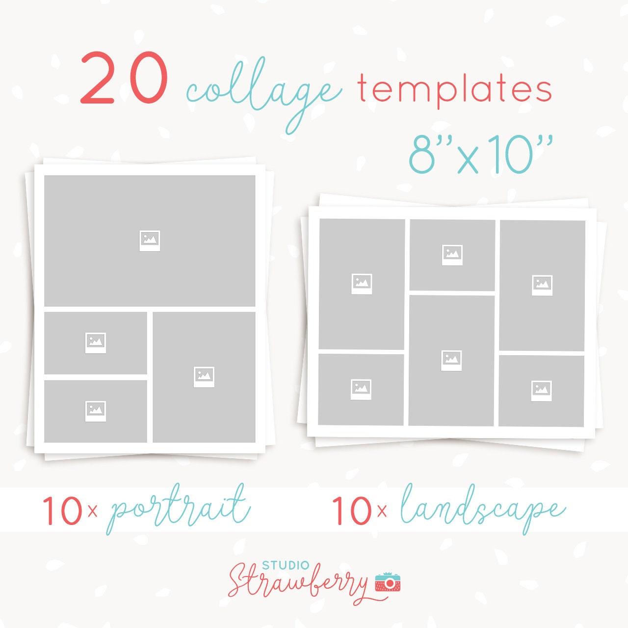 Excelente Plantilla De Collage De 8x10 Composición - Ejemplo De ...