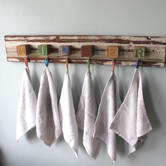 Baby Block Custom Name Hook Board