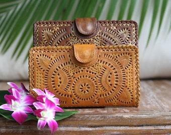 Leather wallet / women's leather wallet / leather purse / leather clutch /Organizer wallet
