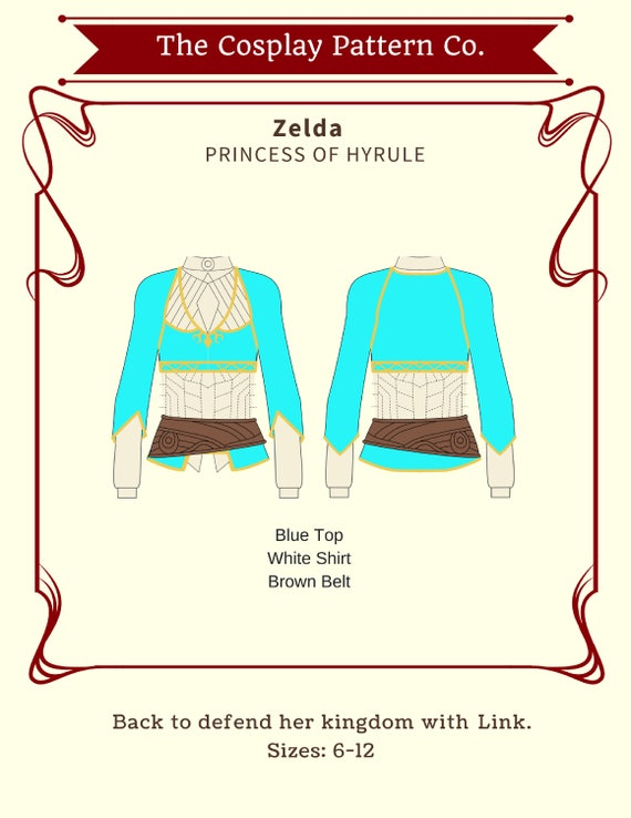 Zelda Breath Of Wind Cosplay Sewing Pattern PDF INSTANT