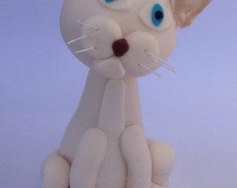 1 large edible 3d CAT cake topper DECORATION icing birthday WEDDING animal pet gumpaste sugarcraft icing