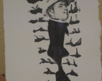 Art print- Swimming With the Fishes TP- Al Capone-Lithograph