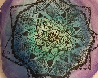 Green, Blue, and Purple Mandala