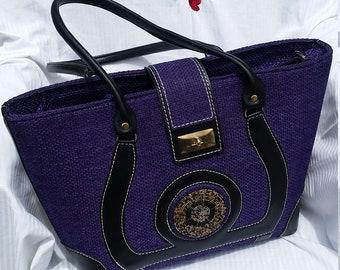 Large purple Tote bag