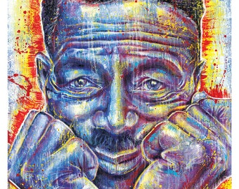"12 x 18"" High Quality Art Print Poster - Son House - Grinnin' in Your Face - music blues"