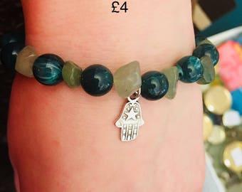 Crystal and bead bracelet