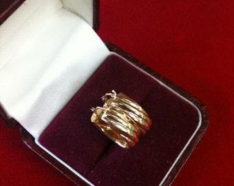 14 K Yellow Gold Beautiful Hoop Earrings. 1.2 gm.