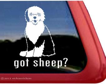 "Got Sheep? - Old English Sheepdog | DC955GOT | High Quality Adhesive Vinyl Window Decal Sticker - 5"" tall x 4.5"" wide"