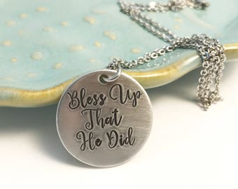 Custom Necklace ~ Hand Stamped Jewelry ~ Aluminum Pendant ~ Affirmation ~ Inspirational ~ Personalized Gift ~ Mother's Day Gift