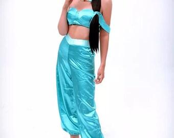 Princess jasmine costume dress for adult (including headband )  sc 1 st  Etsy & Princess jasmine costume | Etsy