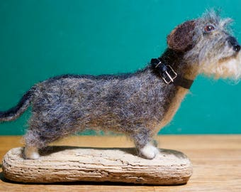 "Miniature Wire Haired Dachshund ""Libby"" - Needle Felted, One of A Kind"