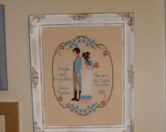 Fools In Love / A Jane Austen Cross Stitch Chart / Elizabeth and Darcy