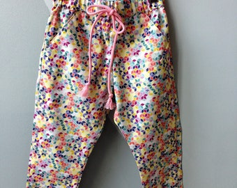 Girl cotton colorful checkered pants