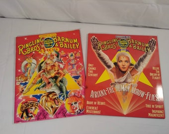 Vintage Ringling Brothers Barnum and Bailey Souvenir Program Magazine Lot