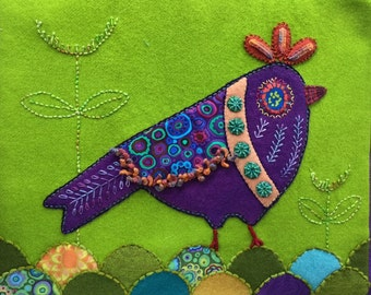 Purple Bird Yazzii Bag Cover