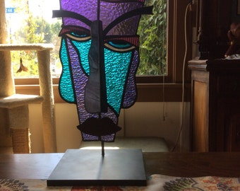 Blake-Abstract glass face