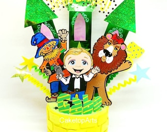 Wizard of oz party, Wizard of Oz birthday, wicked birthday,  Dorothy birthday, Tin man birthday, Custom cake toppers, Unique cake toppers