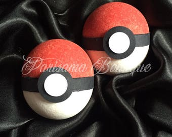Lush Handcrafted Red Pokemon Go Bath Bomb with Hidden Character Inside. Great Birthday gift or Stocking Filler !