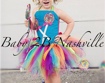 Candyland LollipopTutu Skirt Only  All Sizes