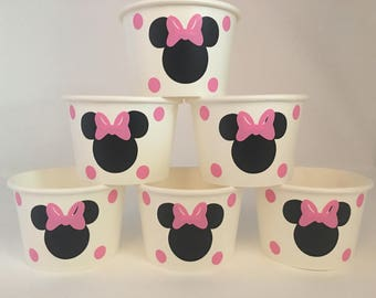 Minnie Mouse Party Snack Cups, Minnie Mouse party cups