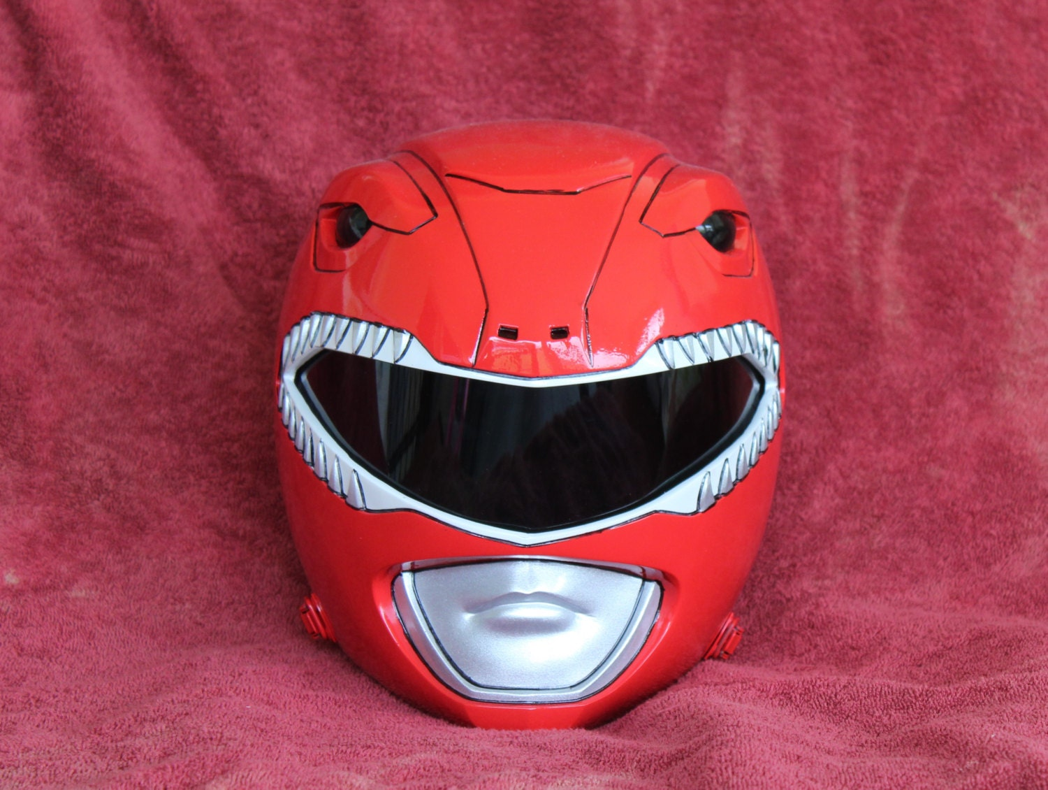 Mighty Morphin Red Power Ranger Screen Version Helmet Finished