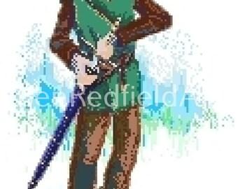 The Legend of Zelda Pixel Art Nintendo Hyrule Link Triforce Master Sword Hylian Ocarina NES SNES Breath of the Wild Sheik Deku Goron Zora