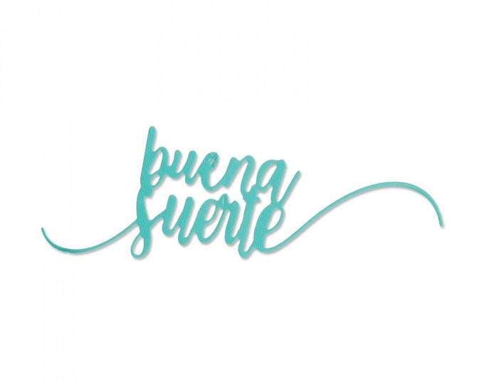 New! Sizzix Thinlits Die - Buena Suerte (Good Luck) by Luisa Elena Guillen-K 662948