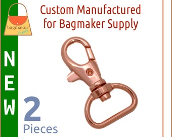 3/4 Inch Trigger Style Snap Hooks Rose Gold / Copper Finish, 2 Pack, Purse Clips, Handbag Bag Making Hardware, SNP-AA141
