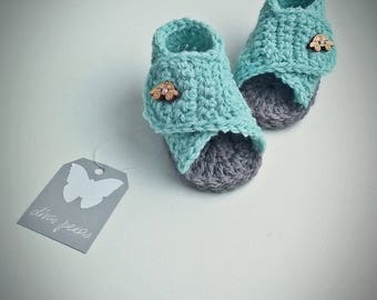 Crochet Baby Sandals, Crochet Baby Shoes, Baby boy sandals, Baby Sandals, Baby Shoes, Crochet Baby Boy Shoes, mint sandals, boys shoes