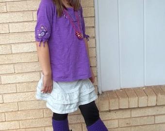 Annie Lace Leg Warmers - PDF Crochet Patternn - Instant Download