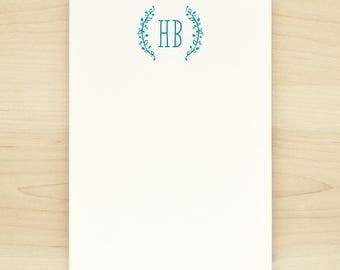 SPRIG Personalized Notepad - Custom Letterhead Feminine Frame