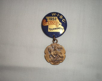 Souvenier pin from 1952 WIBC tournament in St. Louis