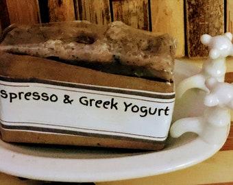 Espresso & Greek Yogurt Coffee Scrub Soap Bar - Soap Farmacy - Chesilhurst Farm