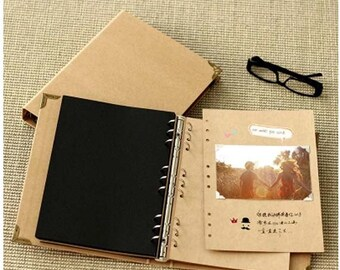 10% OFF Kraft Paper Notebook / Photo ALBUM / Hand-painted Graffiti Day Book / DIY Wedding Albums