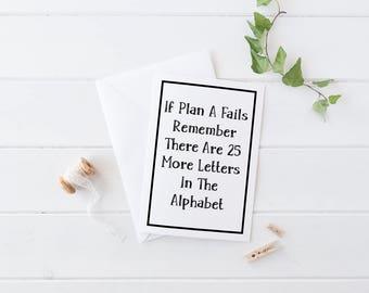 Alphabet Cards, Motivational Card, Encouragement Card, Quote Cards, Motivational Gifts, Motivational Postcard, Pick Me Up Gifts, Pick Me Up