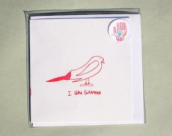 I like Sweet - Refugee Children's Christmas Cards
