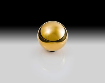 Brass Ring Box - Modern Exotic Metal Orbs