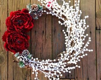 Holiday Wreath, Christmas Wreath, Front Door Wreath, Christmas Door Wreath, Holiday Door Wreath, Door Wreath, Christmas Gift, Home Decor