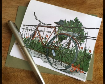 Brooklyn Blooms Note Cards - Handcrafted Stationary Using Original Artwork
