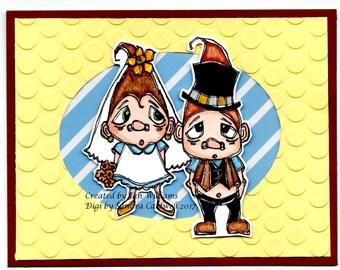 1423 Mr and Mrs Troll Digi Stamp