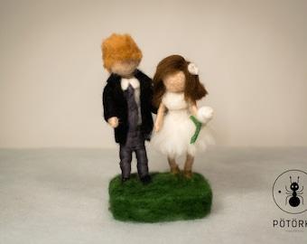 Needle felt wedding doll (couple)