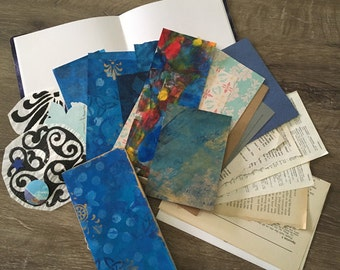Blue art Journaling starter kit with bonus notebook