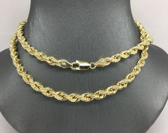 14K Yellow Gold Rope Chain ~5mm