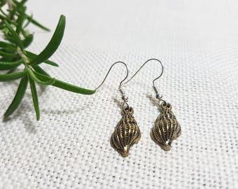 Bronze Sea Shell earrings