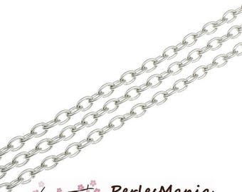 PAX 10 m silver chain heart 4 x 3mm S117269 for creating necklaces
