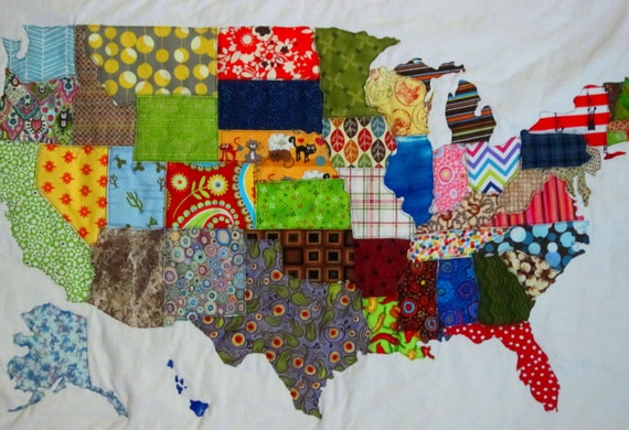 USA PATCHWORK MAP Quilt Pattern from Quilts by Elena Full : quilts usa - Adamdwight.com